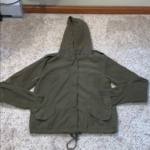 L.A. Hearts Olive Green Lightweight Utility Jacket